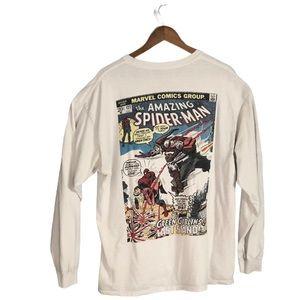 The amazing Spider-Man comic shirt vs green goblin